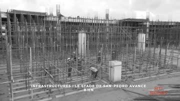 Les travaux du stade de San Pedro